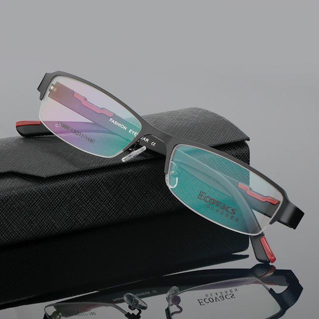 Imagem do olho míope quadro masculino quadro de fundo de assuntos de negócios titanium liga moldura danyang óculos óptica especial xs 685