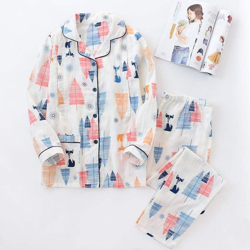 NEW Autumn Thin Section   Pajama     Set   Gauze Cotton Pregnant Women Postpartum Nursing Summer   Pajamas   Suits Breast Feeding Clothing
