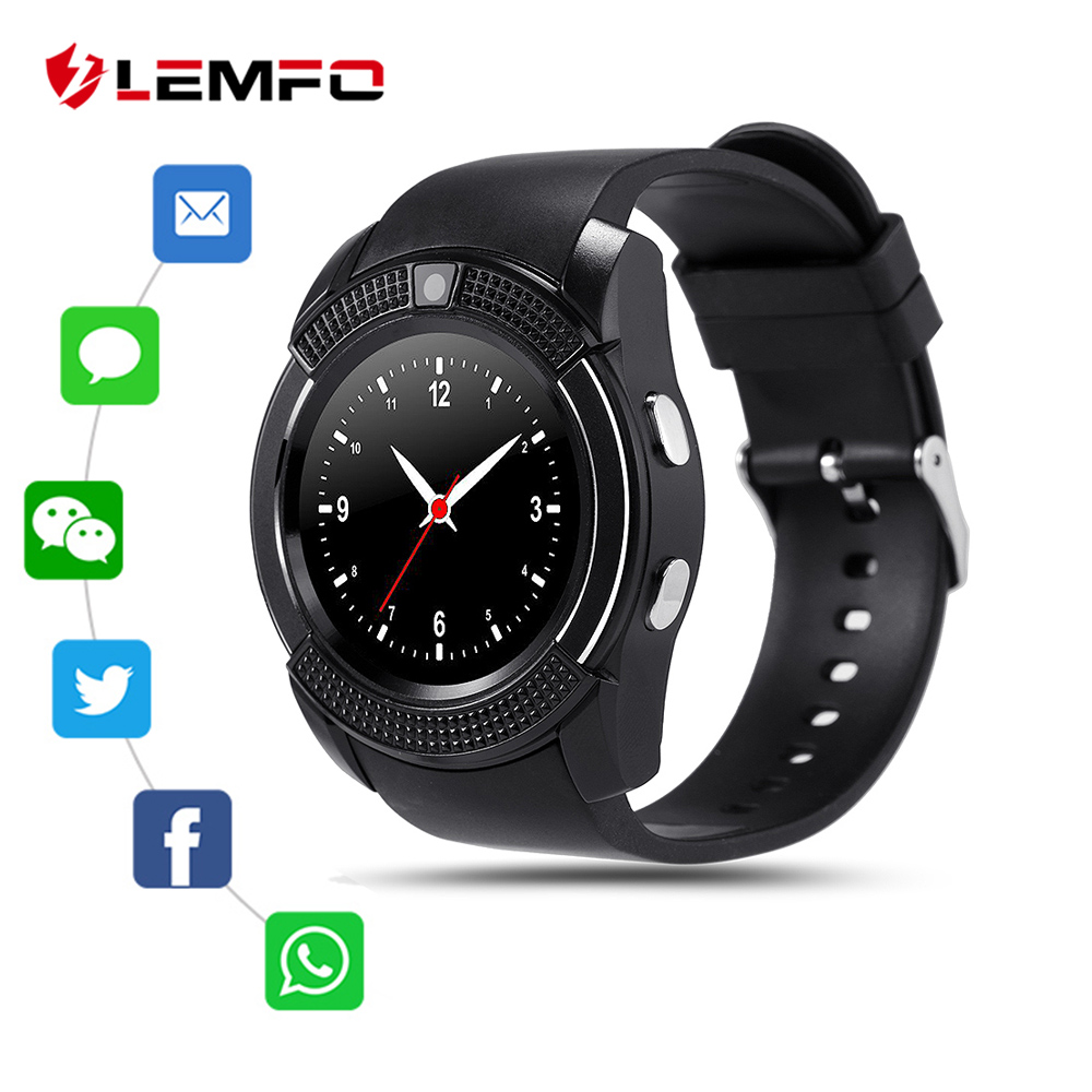 LEMFO Smart Clock With SIM TF Card Camera 1.22 Inch 240X240 IPS HD Full Circle Display Men's Watch Smart For Men Sport Watch