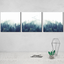 Nordic Decoration Forest Landscape canvas poster Paintings on The Wall Triptych Thomas Kinkade Prints Art Obrazy