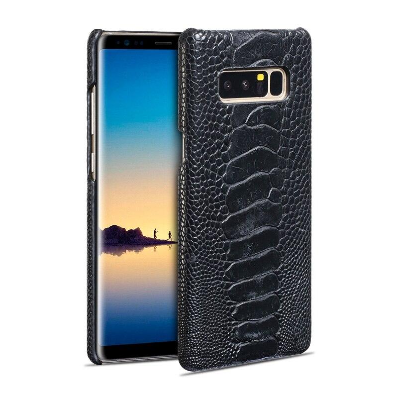 Haute qualité demi-pack pied d'autruche motif couverture arrière étui pour samsung Galaxy 8 S8plus S9 S9plus Note 9 meilleure vente coque de téléphone