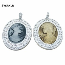 где купить New 42*53 MM Fashion Ellipse White Natural Mother Of Pearl Shell Pendant Charm For DIY Necklace Jewelry Making Gift For Women по лучшей цене
