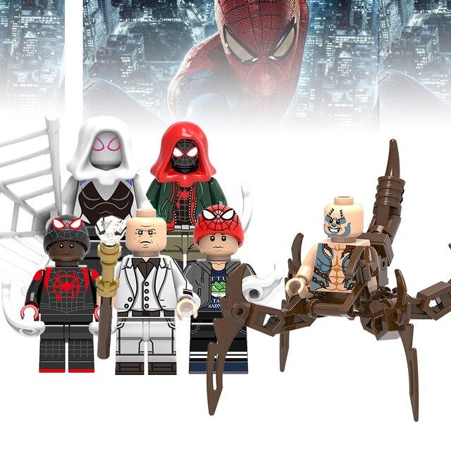 Nova Legoing Spiderman Batman Capitão Marvel Super Heroes Hulk Figura blocos de construção de Brinquedos Para Crianças tijolos Legoings DIY 25
