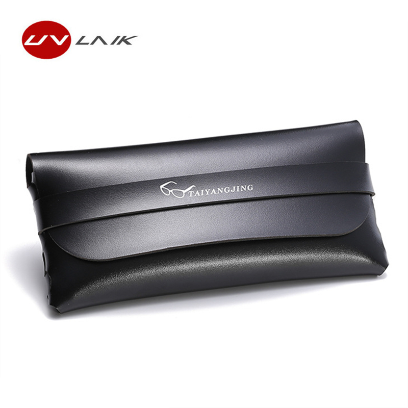 UVLAIK Fashion Travel Glasses Sunglasses Case Women Shopping Carry Wallet Bags Leather Soft Pouch Retro Eyeglasses Box Cases ...