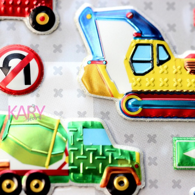 construction vehicle excavator crane dump truck scrapbooking sparkle