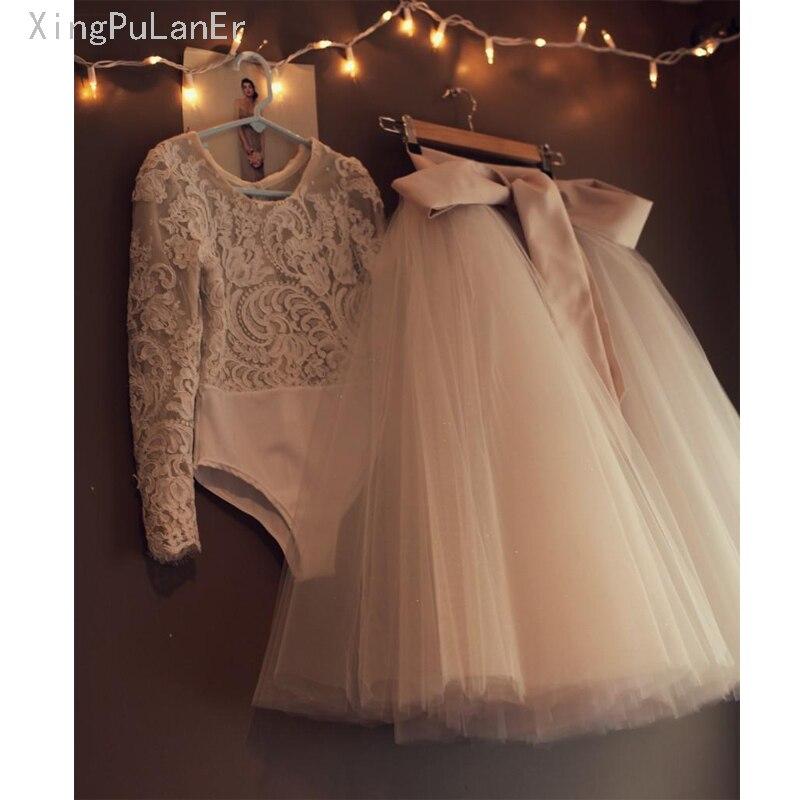 Long Sleeve Flower Girl Tulle Dresses For Wedding Ball Gown vestido de noiva Little Girls First Communion Dress