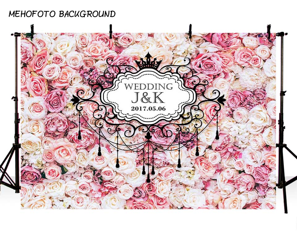 MEHOFOTO Wedding Photography Backdrops Party Decoration Tracery Wall Vinyl Photo Background for Photo Studio Custom PA-019
