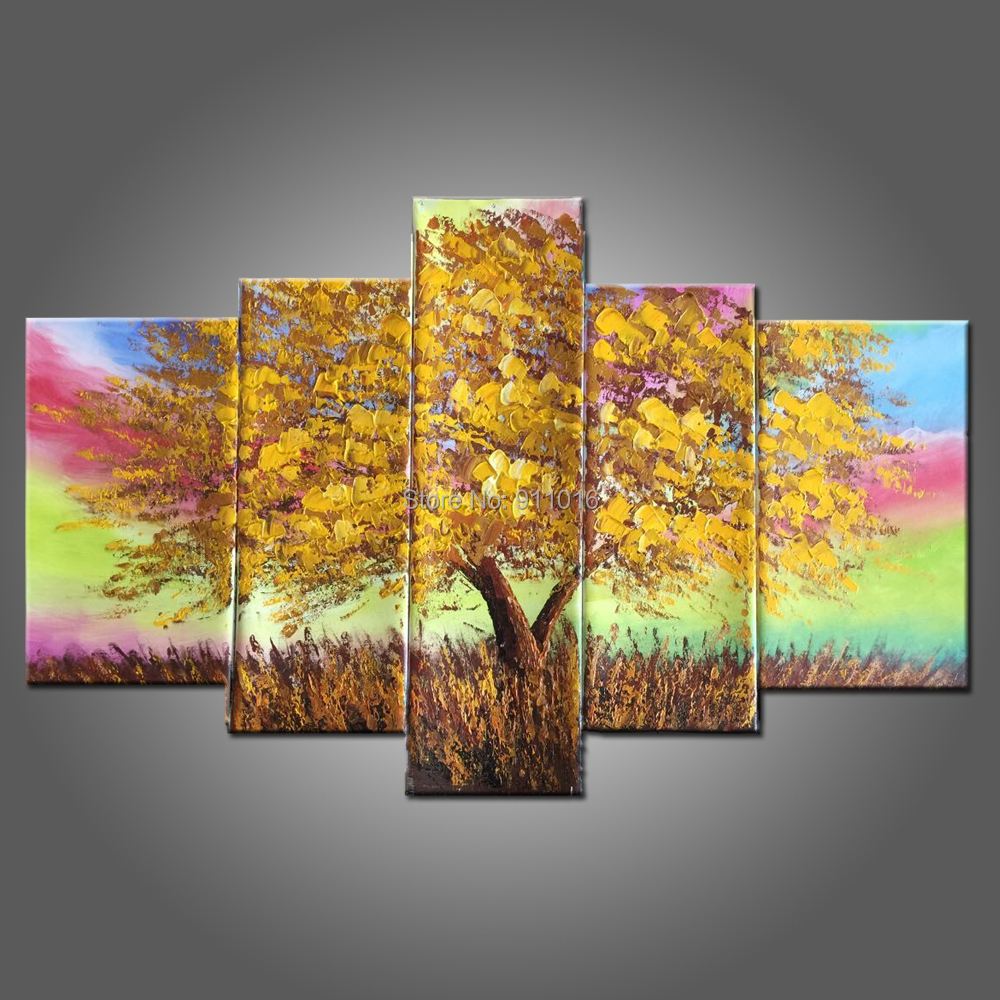 Hand Painted Canvas Painting Landscape Oil Paintings Home Decor Hang ...