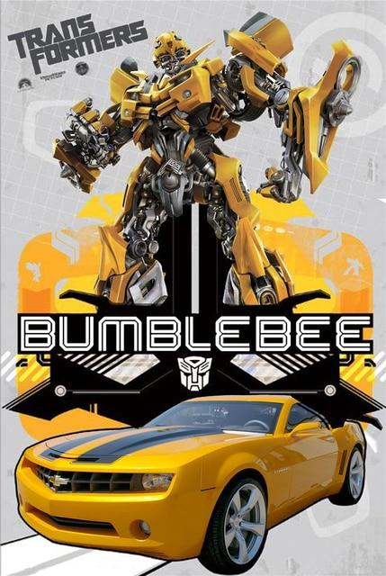 Free Ship Custom Bumblebee Canvas Poster Nice Home/Bedroom Decor  Transformers Wall Sticker Fashion Hot