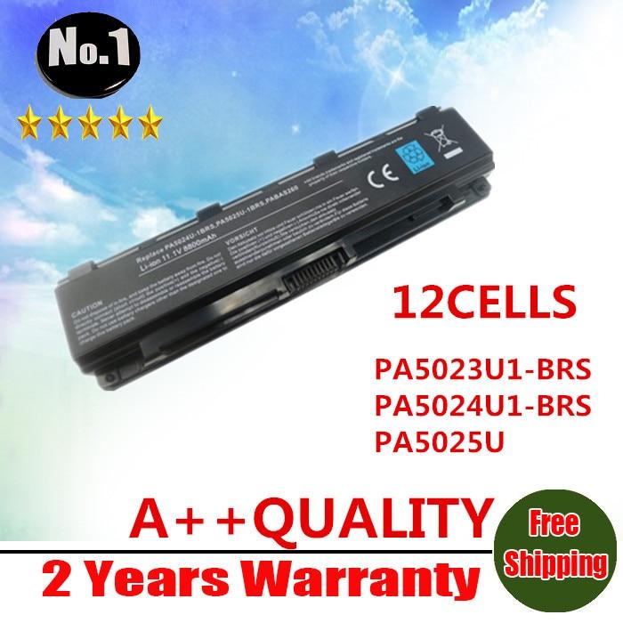 Prix pour Nouveau 12 cellules batterie ordinateur portable pour TOSHIBA Satellite C805 C855 C870 C875 L830 L850 L855 M800 pa5024u - 1brs pa5023u PA5025U-BRS