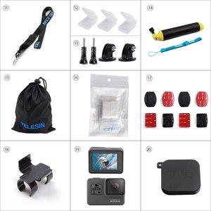 Image 3 - TELESIN Accessories Case 20 in 1 Starter Kit for GoPro Hero 6/5 Hero 7 Black Action Camera kit Sport Camera Set Case Tripod Moun