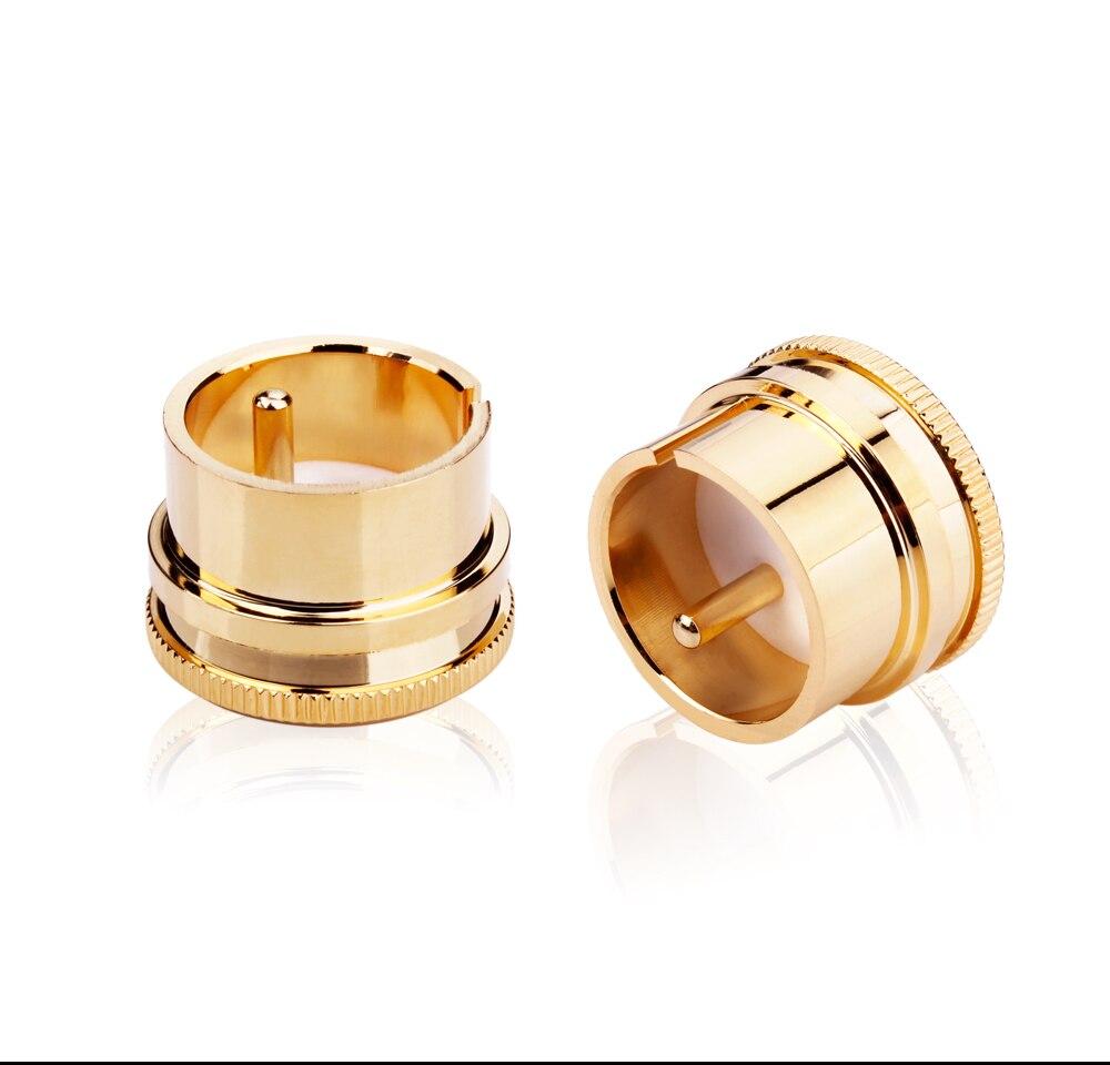 5 Pieces Hi End Yy-fcm-001 Noise Stopper Gold Plated Copper Xlr Plug Caps Xlr Protect Cap Plug & Connectors Digital Cables