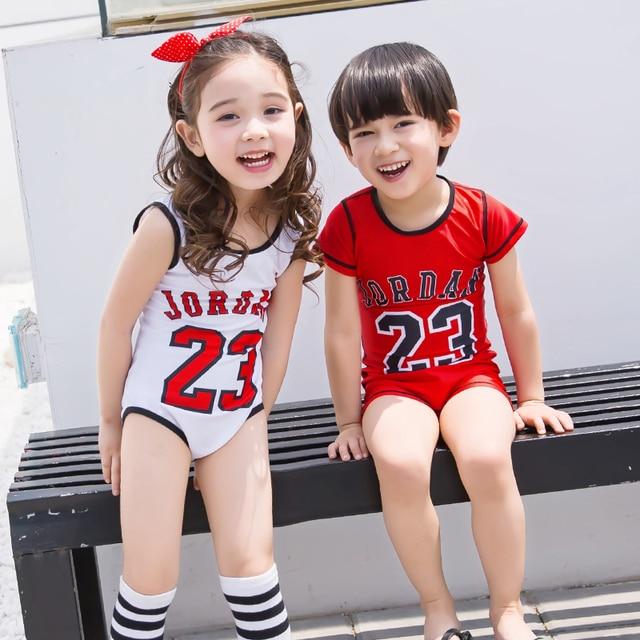 23eb6bb695681 Child Swimwear Sporty One Piece Boys Girls Swimsuits Kids Bathing Suits  Baby Swimsuit Girl Children Beach Wear Swimming Suit
