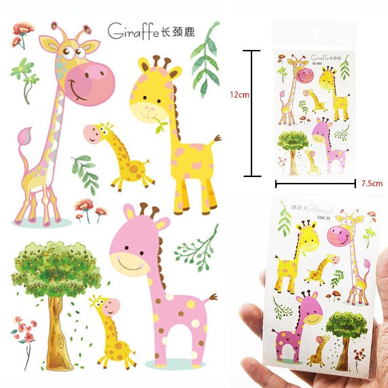 Children Temporary Tattoos Sticker Arm Tattoo Small Cute Animals Giraffe Boy And Girl Children Party