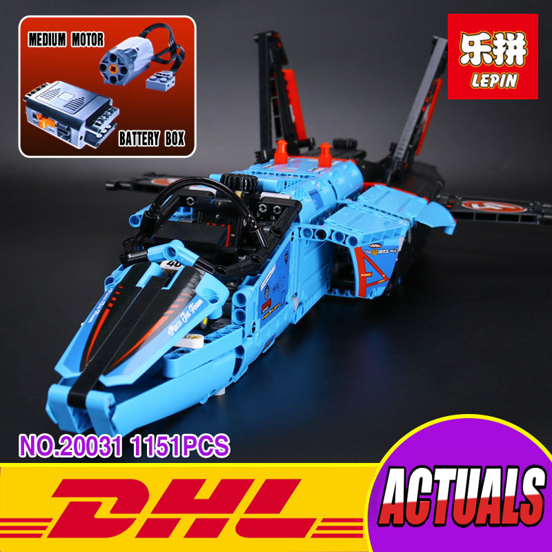LEPIN 20031 1151pcs New Technic Series The jet racing aircraft Model Educational Building Kits Brick Toy Compatible 42066 Gifts lepin 20031 technic the jet racing aircraft 42066 building blocks model toys for children compatible with lego gift set kids