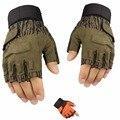 Горячие Продажи Армии Тактические Боевые Перчатки Передач Пейнтбол Airsoft Стрельба Открытый Спорт Половина Finger противоскольжения мужская перчатки