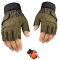 Hot Sale Army Military Tactical Gloves Combat Gear Paintball Airsoft Shooting Outdoor Sports Half Finger Anti-skid Men's Gloves