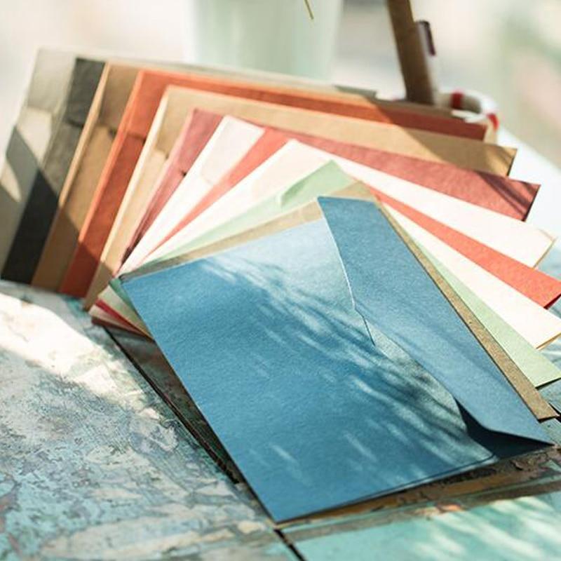 50pcs/lot Western Style High-grade Retro Large Business Envelope 250g Import Paper A5 Envelope 23*16.3cm Kraft Paper Invitation