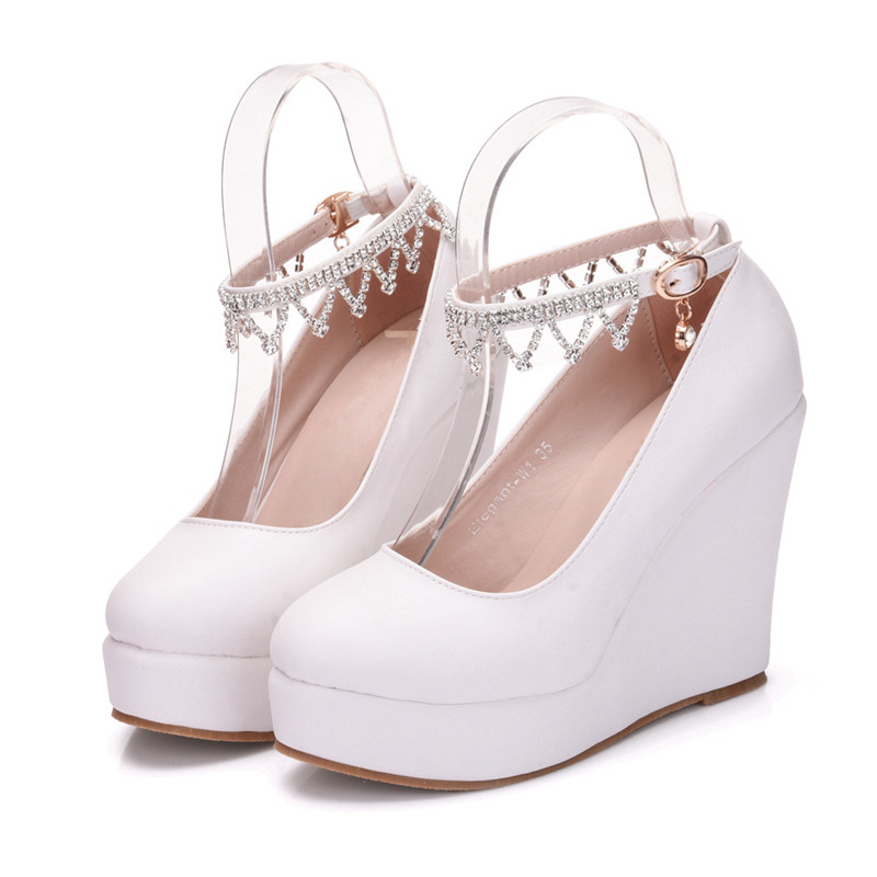 Women High Heels Pumps Office Nude Shoes White Round Toe Formal Classic 2018 Size 33 42 High Quality Black Shoes XY A0065 in Women 39 s Pumps from Shoes