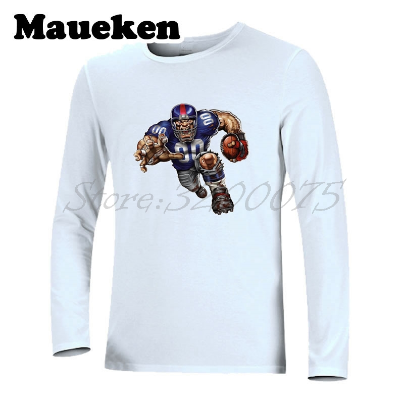 Men Long Sleeve Strong New York Defiant Giant Autumn Winter T-Shirt T Shirt for Giants fans Comic Cartoon Mens W18010121