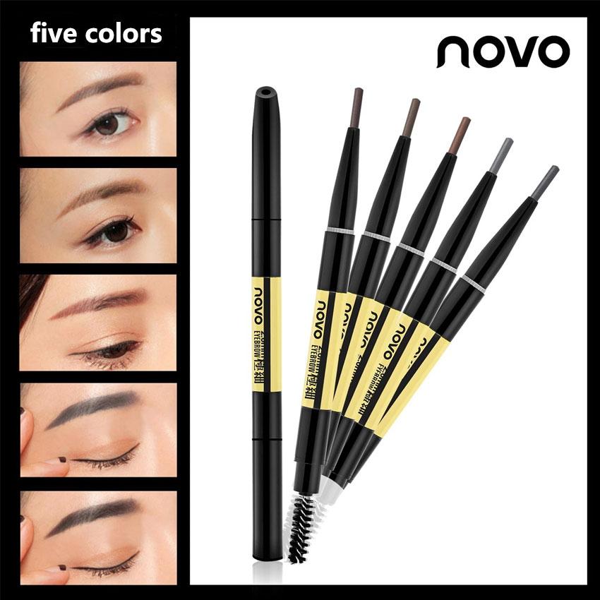 Novo 5 Kolory Malowania Brwi Brwi Olowek Czarny Brown Eye Brow Pen