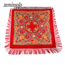 New Brand Fashion Winter Cotton Big Size Square Scarf Soft Warm Charm Tassel Scarf Hijab Hot Sale Fringed Scarves Bandana Shawl outdoor soft checked pattern fringed scarf