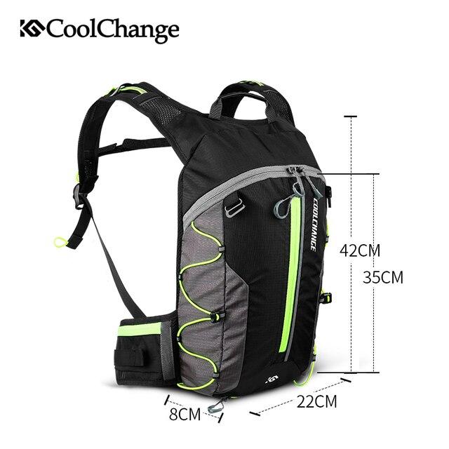 Coolchange saco de bicicleta ultraleve esportes à prova dultralight água respirável mochila saco de bicicleta portátil dobrável ciclismo mochila 6