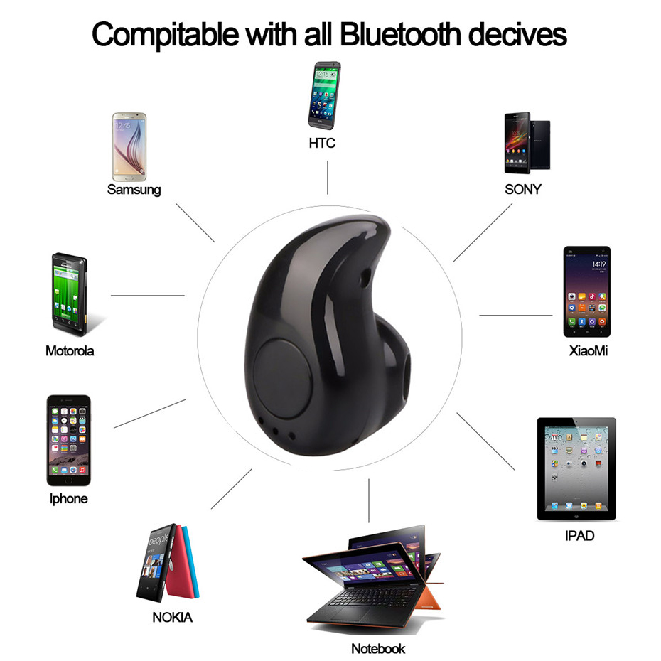 Fornorm S530 Mini Wireless Bluetooth Earphone In Ear Sport With Mic Headset S 530 Earphones Handsfree For Iphone 7 8