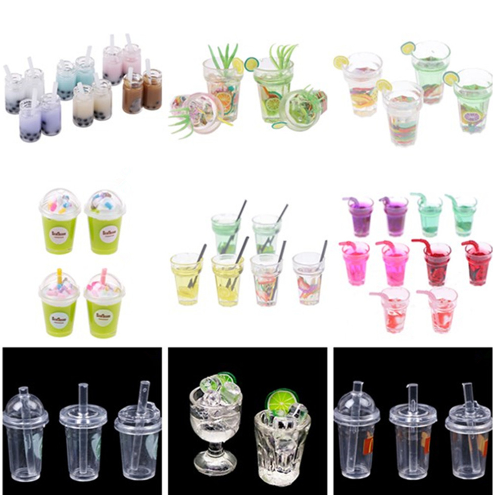 1/2/3pcs/lot Mini Lemon Water Cup Doll House Accessories Cups Toy Small Decoration Gifts Furniture Toys 1:12 Dollhouse Miniature
