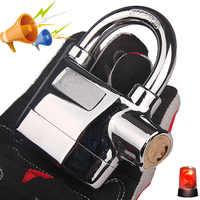Waterproof Siren Alarm Padlock Alarm Lock for Motorcycle Bike Bicycle Perfect Security with 110dB Alarm