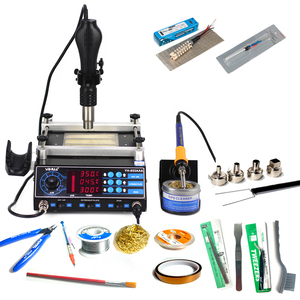 Image 1 - YIHUA 853AAA soldering station 3IN1 650W SMD Hot Air Gun 60W Soldering Irons 500W Preheating Station Solder station EU US PLUG