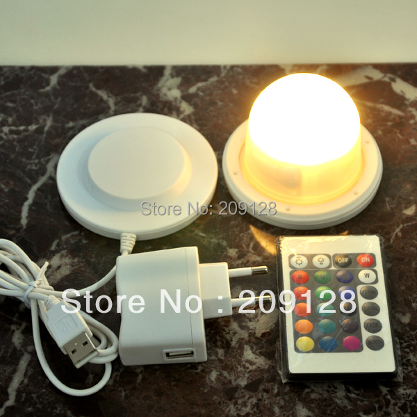 85mm Waterproof LED Light Bulb With Battery And Remote Control for play party