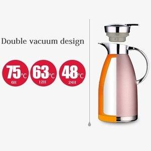 Image 2 - 1.8L/2.3L魔法瓶フラスコ熱水差し投手ステンレス鋼二重層真空断熱ボトルコーヒーティーケトルポット