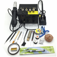 BGA Rework Station Hot Gun Soldering Station Saike 852D++ 2 in 1 220V/110V Iron Solder Soldering Heat Gun + Gift