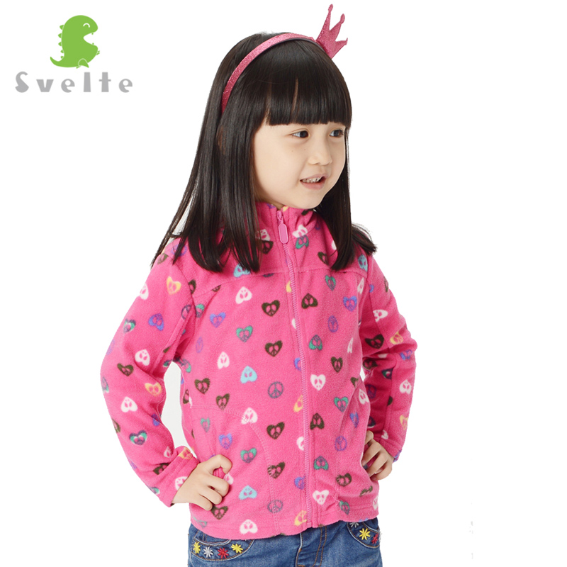 Svelte Brand for 2-9 Y Children Girls Boys Print Polka Dot Striped Polar Fleece Jacket Sweatshirt Kids Faux outerwear Enfant