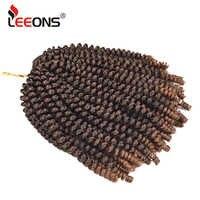 Leeons 30 racines/Pcs Crochet tresses Extensions de cheveux printemps torsion cheveux crépus torsion tressage cheveux synthétiques cheveux pour tresse 8 pouces