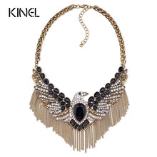 Kinel Top New 2016 Fashion Vintage Jewelry Bohemian Necklace Bijoux Femme Multi-Layer Necklaces(China)