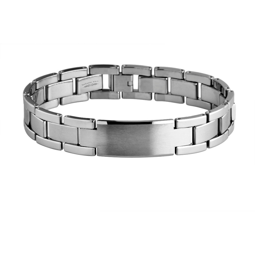 Men Tungsten Carbide Polish Bracelet