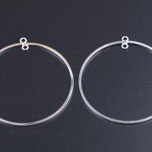 20 шт модные, из сплава металлов 52 мм круглые серьги в виде тонкого кольца