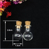 2000pcs Transparent Bulb ball Shaped Wishing Glass Bubble Bottle With wooden Corks Stopper Wedding Gift Holiday gift