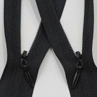 50 قطع الخفية سحابات إغلاق diy النايلون الخياطة حقيبة الملابس الملابس المنتج تبيع فقط أسود ، البيج والأبيض
