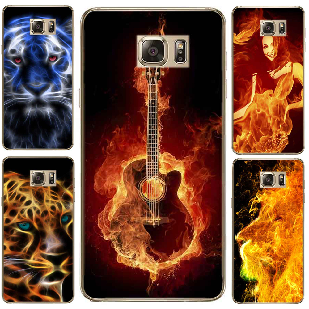 Case For SamSung Galaxy S7 S8 Plus A7 A3 A5 2017 S6 Edge Phone Case Rose Lion Tiger Leopard Musical Note Guitar Case Cover TPU
