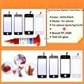 Черный/белый Сенсорный Экран Планшета Панели Стеклянный Объектив для iphone 4g/4s/5 г/5S/5C с 1 шт. TP-2500 5 мл УФ клей