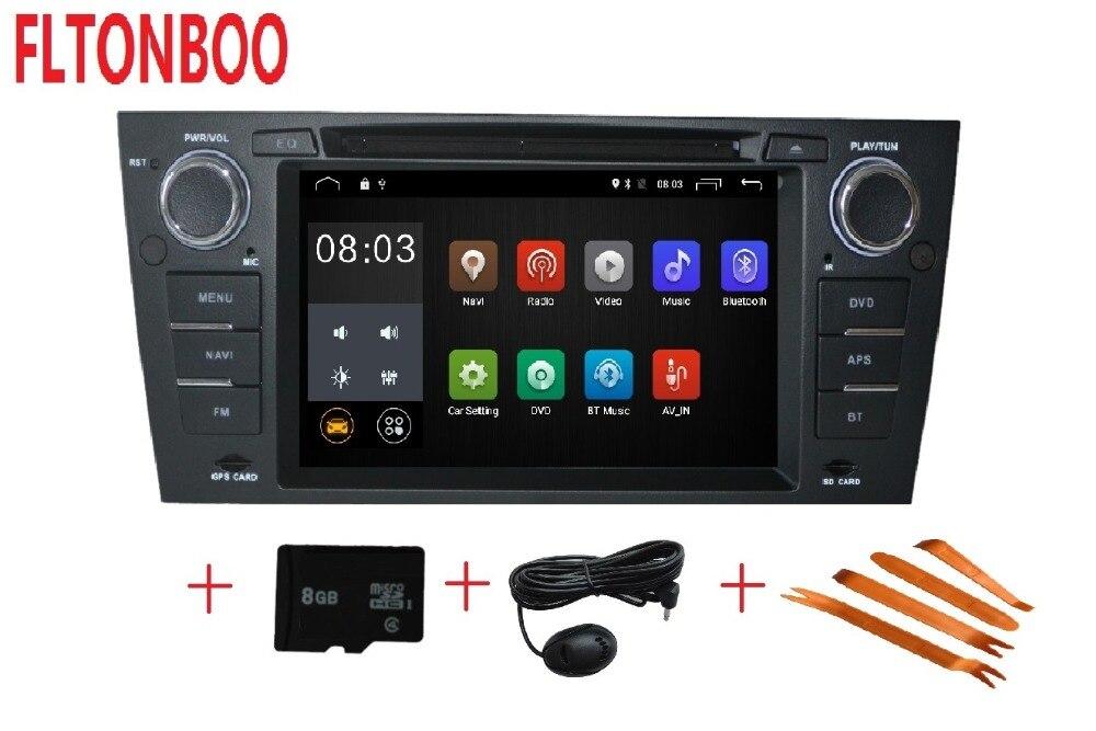 Android 7.1 pour bmw E90, E91, E92, E93, 3 série voiture dvd, gps de navigation, wifi, radio, bluetooth, volant Canbus, livraison 8g carte micro