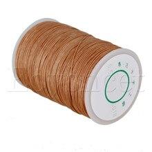 120 м 0,5 мм вощеный полиэстеровый Круглый витой шнур, светильник с коричневой нитью