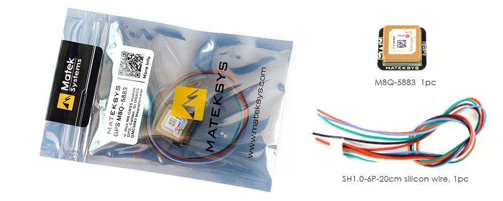 Image 3 - Предпродажа; matek Systems M8Q 5883 Ublox SAM M8Q gps & QMC5883L модуля компаса для квадрокоптера с дистанционным управлением небольшой гоночный Дрон с видом от первого лица с большим радиусом-in Детали и аксессуары from Игрушки и хобби