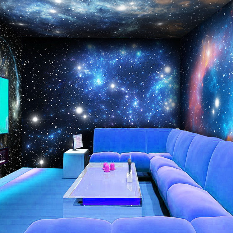 Ikea 3d Chambre Custom Photo Wallpaper 3d Star Theme Bar Large Mural
