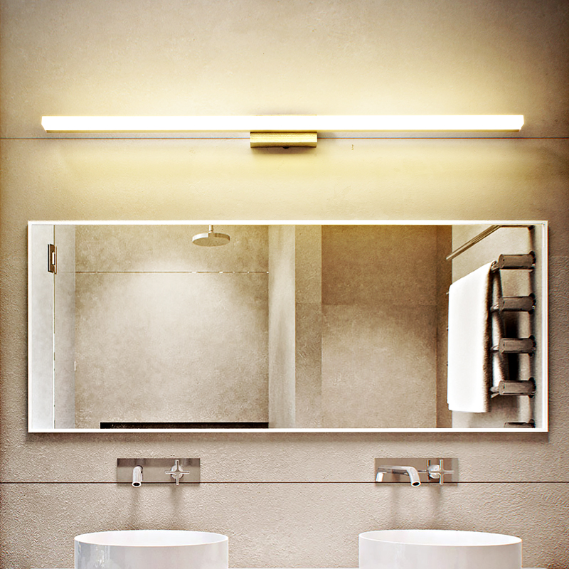 Brief Modern Brushed Aluminum LED Wall Lamp Bathroom Toilet Long Vanity Front Mirror Light Wall Mounted Sconces Dresser Lighting in LED Indoor Wall Lamps from Lights Lighting