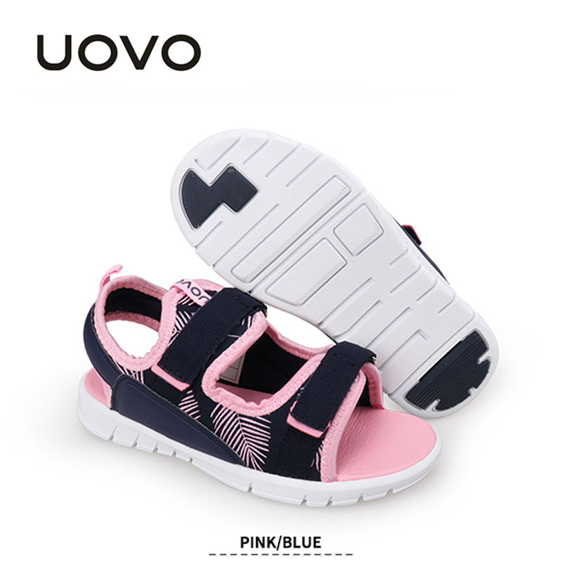 Kids Casual Sports Sandals Uovo Boys Girls Classical Beach Sandals Size 25-32 Light-weight Slip-resistant Boutique Shoes