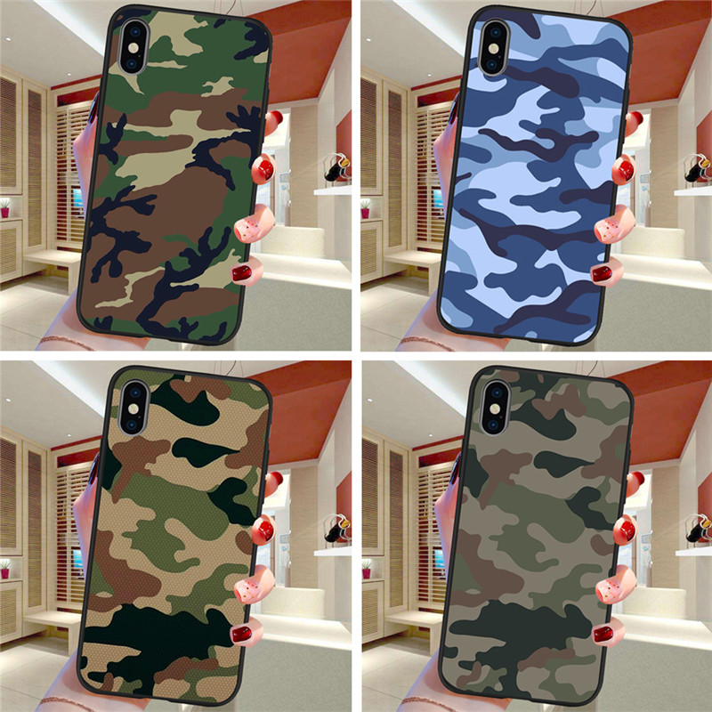 Army Camouflage For iPhone X XR XS Max 5 5S SE 6 6S font b 7